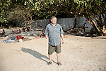 Mr. Kurt Wolf Greutmann at the beach where most German tourists hangout. <br />