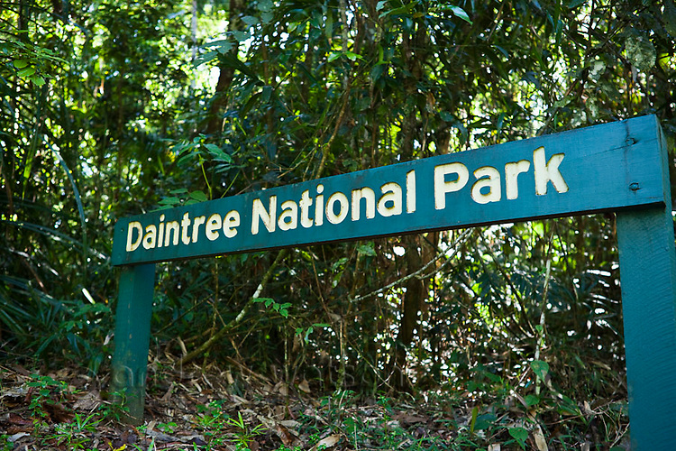 Sign in Daintree National Park, Queensland, Australia