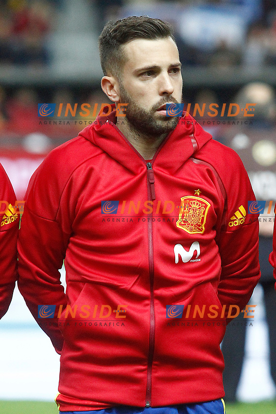 Spain's Jordi Alba during FIFA World Cup 2018 Qualifying Round match. <br /> Gijon 24-03-2017 Stadio El Molinon <br /> Qualificazioni Mondiali <br /> Spagna - Israele <br /> Foto Acero/Alterphotos/Insidefoto <br /> ITALY ONLY