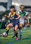1 September 2019: Merrimack College Warrior Forward Izzy McDonnell, a Junior from Fall River, MA, in action against the University of Vermont Catamounts in Game 3 of the TD Bank Women's Soccer Classic at Virtue Field in Burlington, Vermont. The Lady Warriors rallied in the second half to defeat the Catamounts 2-1. Mandatory Credit: Ed Wolfstein Photo *** RAW (NEF) Image File Available ***