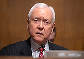 United States Senator Orrin Hatch (Republican of Utah) makes an opening statement as the  US Senate Committee on the Judiciary meets to vote on the nomination of Judge Brett Kavanaugh to be Associate Justice of the US Supreme Court to replace the retiring Justice Anthony Kennedy on Capitol Hill in Washington, DC on Friday, September 28, 2018.  If the committee votes in favor of Judge Kavanaugh then it goes to the full US Senate for a final vote.<br /> Credit: Ron Sachs / CNP<br /> (RESTRICTION: NO New York or New Jersey Newspapers or newspapers within a 75 mile radius of New York City)