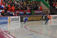 SPEEDSKATING: HAMAR: Vikingskipet, 29-02-2020, ISU World Speed Skating Championships, Allround, 5000m Men, Sverre Lunde Pedersen (NOR), Sven Kramer (NED), ©photo Martin de Jong