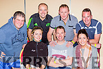 The Legion cast members at the Killarney Tops of the Town on Friday night front row l-r Celena Looney, Paddy Osbourne, Christina Tangeny. Back row: Danny McClour, Brian Looney, Michael Bernard and Enda walsh