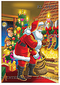 Interlitho, Eberle, Comics, CHRISTMAS SANTA, SNOWMAN, paintings, santa, tree, kids, KL5935,#X# Weihnachten, Navidad, illustrations, pinturas