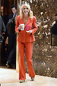 Kellyanne Conway, campaign manager and strategist, is seen in the lobby of the Trump Tower in New York, New York, on November 28, 2016.<br /> Credit: Anthony Behar / Pool via CNP