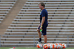 21 August 2015: Fresno State assistant coach Sean Steele. The Duke University Blue Devils played the Fresno State Bulldogs at Fetzer Field in Chapel Hill, NC in a 2015 NCAA Division I Women's Soccer game. Duke won the game 5-0.