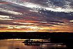 Solnedgangen sett fra Slottsfjell over Tønsberg