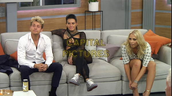 Celebrity Big Brother 2017<br /> Sam Thompson, Jemma Lucy and Amelia Lily.<br /> *Editorial Use Only*<br /> CAP/KFS<br /> Image supplied by Capital Pictures
