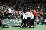 TENIS, BEOGRAD, 05. Dec. 2010. -  Srbija osvajac Davis cupa. Finale Davis cup-a izmedju selekcija Srbije i Francuske koje se igra od 3-5 decembra u beogradskoj Areni. Davis cup final Serbia vs France. Foto: Nenad Negovanovic