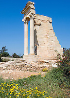 CYPRUS, near Kourion: archaelogical excavation - Temple of Apollo Hylates<br />