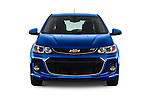 Car photography straight front view of a 2017 Chevrolet Sonic LT 5 Door Hatchback Front View