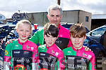 Attending the annual John Drum cycling (Juvenile Road race) in Currow on Sunday.<br /> From the Killarney Cycling Club<br /> L-r, Eabha O'Callaghan, Callum Steadan, Michael O'Callaghan and Stephen Daly.
