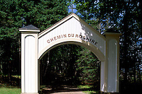 Caraquet, NB, New Brunswick, Canada - the Chemin du Rosaire (Rosary Path) at Sainte-Anne-du-Bocage, a Catholic Sanctuary