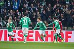 01.12.2018, Weser Stadion, Bremen, GER, 1.FBL, Werder Bremen vs FC Bayern Muenchen, <br /> <br /> DFL REGULATIONS PROHIBIT ANY USE OF PHOTOGRAPHS AS IMAGE SEQUENCES AND/OR QUASI-VIDEO.<br /> <br />  im Bild<br /> <br /> 1 zu 1 durch Yuya Osako (Werder Bremen #08) gegen Manuel Neuer (FC Bayern Muenchen #01) <br /> <br /> jubel Johannes Eggestein (Werder Bremen #24)<br /> Nuri Sahin (Werder Bremen #17) Theodor Gebre Selassie (Werder Bremen #23)<br /> <br /> Foto &copy; nordphoto / Kokenge