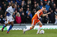 Blackpool's Oliver Turton breaks away from Bristol Rovers' Abu Ogogo <br /> <br /> Photographer Andrew Kearns/CameraSport<br /> <br /> The EFL Sky Bet League Two - Bristol Rovers v Blackpool - Saturday 2nd March 2019 - Memorial Stadium - Bristol<br /> <br /> World Copyright © 2019 CameraSport. All rights reserved. 43 Linden Ave. Countesthorpe. Leicester. England. LE8 5PG - Tel: +44 (0) 116 277 4147 - admin@camerasport.com - www.camerasport.com