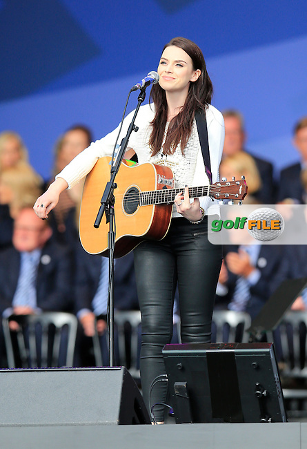 Amy Macdonald during the Opening Ceremony on Thursday at the 40th Ryder Cup, The Gleneagles Hotel, Perthshire from 26th to 28th September 2014<br /> Picture Eoin Clarke, www.golffile.ie