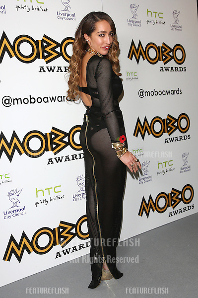 Delilah in the press room for The MOBO awards 2012 held at the Echo Arena, Liverpool. 03/11/2012 Picture by: Henry Harris / Featureflash