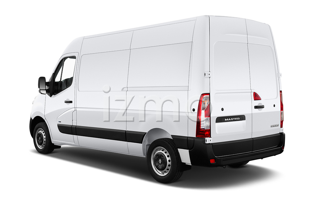 Car pictures of rear three quarter view of a 2019 Renault Master-Z.E. Base 4 Door Cargo Van angular rear