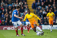 Aaron Pierre of Wycombe Wanderers in action during the Sky Bet League 2 match between Portsmouth and Wycombe Wanderers at Fratton Park, Portsmouth, England on 23 April 2016. Photo by Andy Rowland.