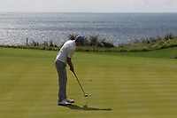 Robert Brazill (Naas) on the 10th green during the Final of the AIG Irish Amateur Close Championship 2019 in Ballybunion Golf Club, Ballybunion, Co. Kerry on Wednesday 7th August 2019.<br /> <br /> Picture:  Thos Caffrey / www.golffile.ie<br /> <br /> All photos usage must carry mandatory copyright credit (© Golffile | Thos Caffrey)