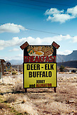 USA, Utah, a roadside breakfast sign in the small town of Virgin, Rte 9