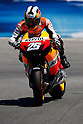 July 23, 2010 - Laguna Seca, USA -Repsol Honda team's Spanish rider, Dani Pedrosa, powers his bike during a free practice prior to the U.S. Grand Prix held on July 25, 2010. (Photo Andrew Northcott/Nippon News)