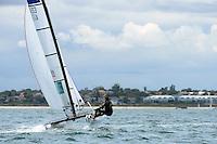 Jason Waterhouse &amp; Lisa Darmanin (AUS)<br /> Racing -Day 1 / Nacra 17<br /> ISAF Sailing World Cup - Melbourne<br /> Sandringham Yacht Club<br /> Monday 8 December 2014<br /> &copy; Sport the library / Jeff Crow