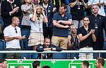 Solna 2014-07-12 Fotboll Allsvenskan AIK - Kalmar FF :  <br /> AIK:s assisterande tr&auml;nare assistant coach Ulf Kristiansson (l&auml;ngst ner vid r&auml;cket) p&aring; l&auml;ktaren i slutet av matchen efter att ha blivit utvisad i slutet av matchen efter ett br&aring;k med ledare i samband med att Kalmars Emin Nouri blev utvisad<br /> (Foto: Kenta J&ouml;nsson) Nyckelord:  AIK Gnaget Friends Arena Kalmar KFF slagsm&aring;l br&aring;k fight fajt gruff portr&auml;tt portrait depp besviken besvikelse sorg ledsen deppig nedst&auml;md uppgiven sad disappointment disappointed dejected