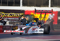 Feb 2, 2017; Chandler, AZ, USA; NHRA top fuel driver Steve Torrence during Nitro Spring Training preseason testing at Wild Horse Pass Motorsports Park. Mandatory Credit: Mark J. Rebilas-USA TODAY Sports