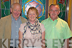 Frank Twiss with Sheila and Michael Murphy, Milltown, pictured at the Mid Kerry Farmers Dance in the Heights Hotel, Killarney on Saturday night.   Copyright Kerry's Eye 2008