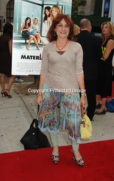 "Director Martha Coolidge..at The New York Premiere of ""Material Girls"" starring ..Hilary Duff and Haylie Duff on August 14, 2006 at ..Chelsea West Cinemas. ..Robin Platzer, Twin Images"