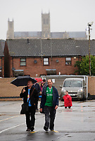 Fans arrive at the ground prior to the game<br /> <br /> Photographer Chris Vaughan/CameraSport<br /> <br /> The Carabao Cup Second Round - Lincoln City v Everton - Wednesday 28th August 2019 - Sincil Bank - Lincoln<br />  <br /> World Copyright © 2019 CameraSport. All rights reserved. 43 Linden Ave. Countesthorpe. Leicester. England. LE8 5PG - Tel: +44 (0) 116 277 4147 - admin@camerasport.com - www.camerasport.com