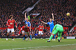 Wayne Rooney of Manchester United scores his sides second goal - Manchester United vs. Sunderland - Barclay's Premier League - Old Trafford - Manchester - 28/02/2015 Pic Philip Oldham/Sportimage