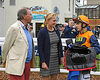 Connections of Marshal Dan in the Winners enclosure after winning The Shadwell Racing Excellence Apprentice Handicap during Afternoon Racing at Salisbury Racecourse on 16th May 2019