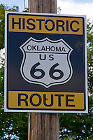 Historic Oklahoma Route 66 shield.