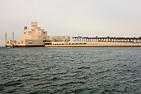 Doha, Qatar.  Museum of Islamic Art, near Sunset, designed by architect I.M. Pei.