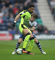 Preston North End's Ben Pearson battles with  Reading's Garath McCleary<br /> <br /> Photographer Mick Walker/CameraSport<br /> <br /> The EFL Sky Bet Championship - Preston North End v Reading - Saturday 11th March 2017 - Deepdale - Preston<br /> <br /> World Copyright &copy; 2017 CameraSport. All rights reserved. 43 Linden Ave. Countesthorpe. Leicester. England. LE8 5PG - Tel: +44 (0) 116 277 4147 - admin@camerasport.com - www.camerasport.com
