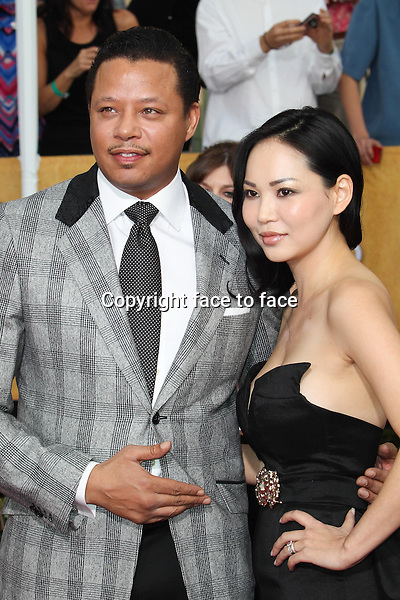 LOS ANGELES, CA - JANUARY 18: Terrence Howard, Miranda Howard attending the 2014 SAG Awards in Los Angeles, California on January 18, 2014.<br /> Credit: RTNUPA/MediaPunch<br />