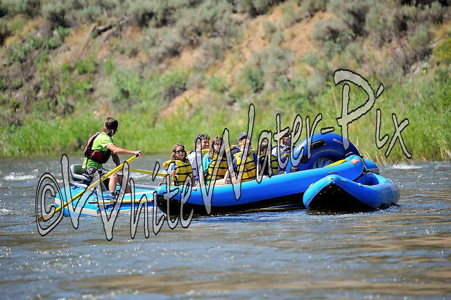 Sage Outdoor Adventures crashing Cable Rapid while floating the Upper Colorado River from Rancho Del Rio to State Bridge on the morning of July 20, 2014.