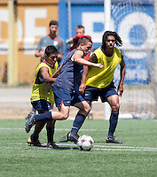 Luis Gil, Marlon Duran and Zachary Herold training before the 2009 CONCACAF Under-17 Championship From April 21-May 2 in Tijuana, Mexico