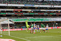 Mexico City, Mexico - Sunday June 11, 2017: Brad Guzan, USMNT, Mexico during a 2018 FIFA World Cup Qualifying Final Round match with both men's national teams of the United States (USA) and Mexico (MEX) playing to a 1-1 draw at Azteca Stadium.