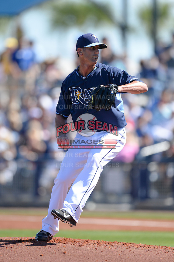Tampa Bay Rays pitcher Grant Balfour (50) during a spring training game against the Minnesota Twins on March 2, 2014 at Charlotte Sports Park in Port Charlotte, Florida.  Tampa Bay defeated Minnesota 6-3.  (Mike Janes/Four Seam Images)