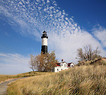 Big Sable Point Lighthouse On A beautiful Autumn Day, Michigan's Lower Peninsula, USA