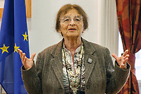 UNGARN, 03.2014, Budapest. Die Philosophin Ágnes Heller erhaelt den Radnóti-Preis. | The philosopher Agnes Heller reiceives the Radnoti prize.<br />  @ Szilard Voros/estost.net