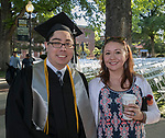 John Suzuki and Tamsen Reed during the University of Nevada College of Liberal Arts and Donald W. Reynolds School of Journalism graduation ceremony on Saturday morning, May 20, 2017.