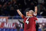 Calcio, Serie A: Roma vs Fiorentina. Roma, stadio Olimpico, 8 dicembre 2012..AS Roma forward Francesco Totti celebrates with teammate Michael Bradley, back to camera, after scoring his second goal during the Italian Serie A football match between AS Roma and Fiorentina at Rome's Olympic stadium, 8 december 2012..UPDATE IMAGES PRESS/Isabella Bonotto