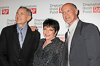 Craig Zadan, Liza Minnelli and Neil Meron attend The Dramatists Guild Fun's 50th Anniversary Gala at the Mandarin Oriental in New York, 03.06.2012...Credit: Rolf Mueller/face to face /MediaPunch Inc. ***FOR USA ONLY***