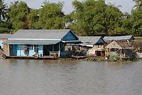 Mekong River<br /> , Cambodia - 2007 File Photo -<br /> <br /> fishing village.<br /> <br /> <br /> <br /> photo : James Wong-  Images Distribution
