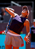 Garbine Muguruza of Spain in action against Petra Martic of Croatia during day two of the Mutua Madrid Open at La Caja Magica on May 05, 2019 in Madrid, Spain. /NortePhoto.com