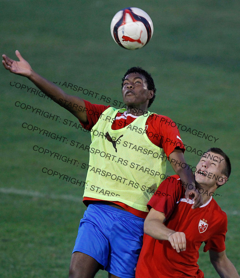 Fudbal <br /> Crvena Zvezda<br /> Practice session<br /> Miguel Araujo and Filip Kasalica<br /> Beograd, 29.07.2013.<br /> foto: Srdjan Stevanovic/Starsportphoto &copy;